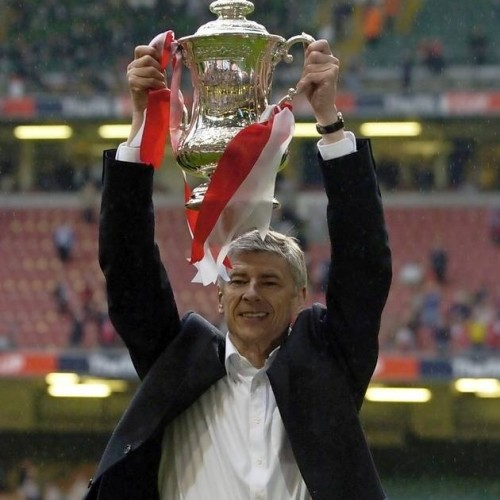 FA Cup Asian handicap: Arsenal's manager Arsene Wenger raised the newly owned FA Cup trophy
