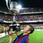 Luis Enrique Champions League trophy