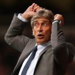 Manchester City's coach Manuel Pellegrini,