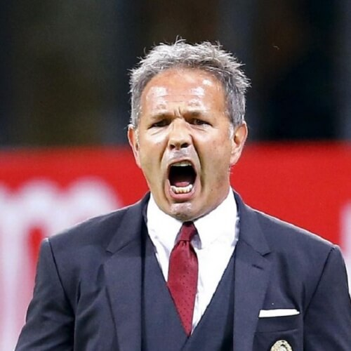 Serie A Asian handicap: AC Milan's manager Siniša Mihajlović showed frustration in one of his team's previous match