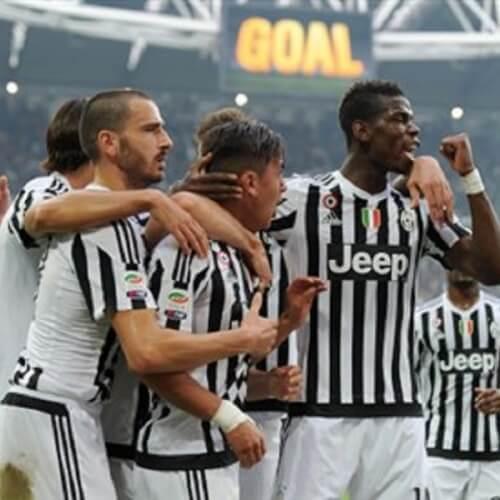Juventus players at Allianz