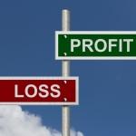 Profit and loss sign post