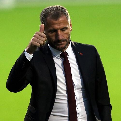 Veikkausliiga Asian handicap: Inter Turku's Manager Shefki Kuqi giving a thumbs up for a job well done