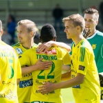 Veikkausliiga Asian handicap: Warm hugs from Emile Paul Tendeng's Ilves team mate after a successful attack