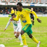 Veikkausliiga Asian handicap: Ilves midfielder Emile Paul Tendeng try to defend the ball after being chased