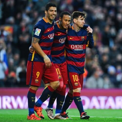 Neymar, Suarez and Messi