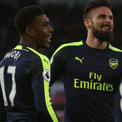 Premier League Asian handicap: Arsenal's two legendary strikers Alex Iwobi and Olivier Giroud