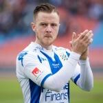 Allsvenskan Asian handicap: Hammarby's winger Arnór Smárason is clapping his hands