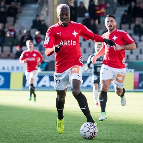 Veikkausliiga Asian Handicap: Nnaemeka Anyamele and some of Helsingfors IFK players chase a goal as their match with SJK is fast approaching.