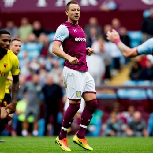 Aston Villa's captain John Terry