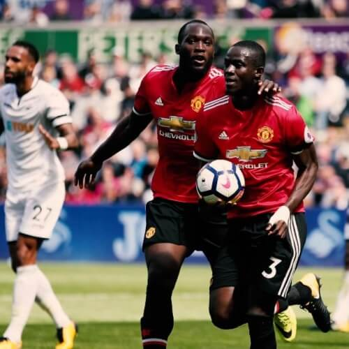 Bailly and Lukaku Man United
