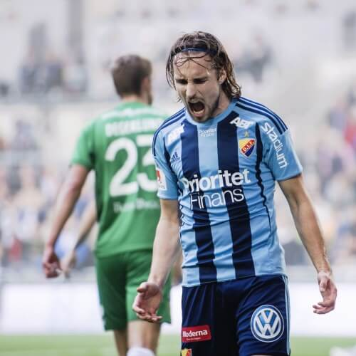 Djurgården's Central Midfielder Kevin Walker