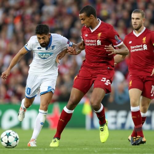 Kerem Demirbay and Joel Matip
