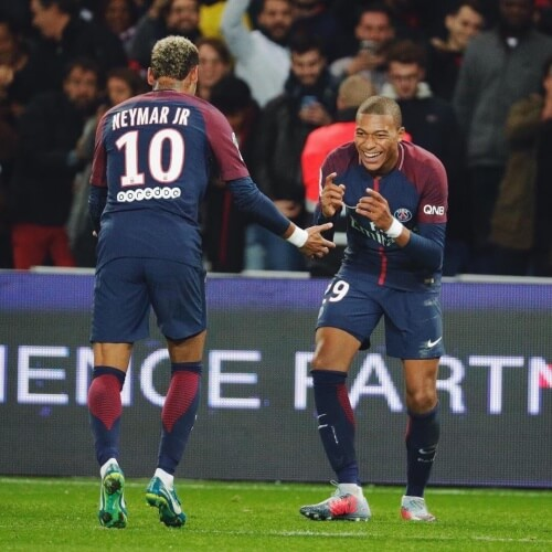PSG's Kylian Mbappe and Neymar