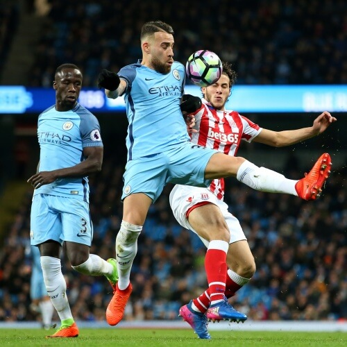 Manchester City burned Stoke City 7-2