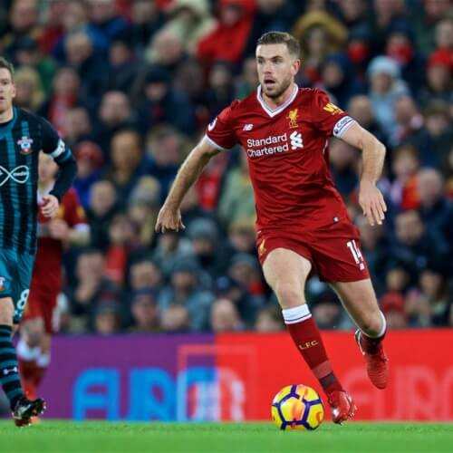 FA Premier League match between Liverpool and Southampton