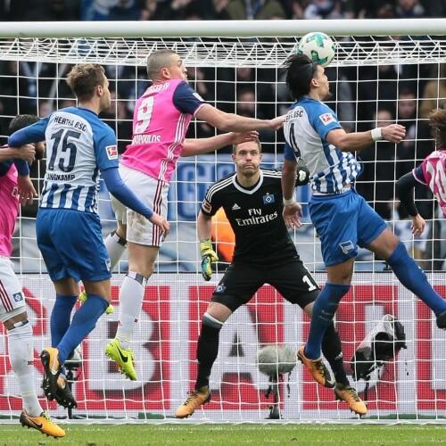 Hertha Berlin defeated Hamburger SV