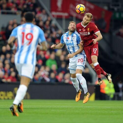 Liverpool defeated Huddersfield 3-0