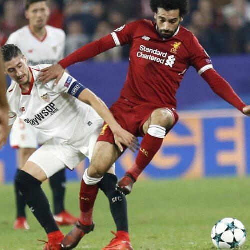 Liverpool's forward Mo Salah