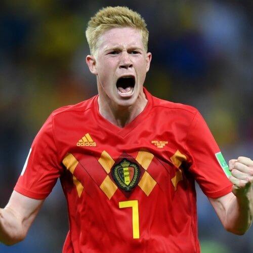 Belgian midfielder De Bruyne