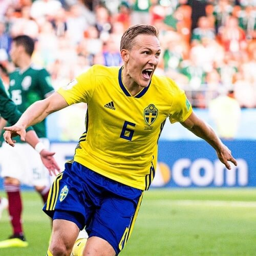 Sweden's Ludwig Augustinsson