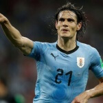 Striker Edinson Cavani