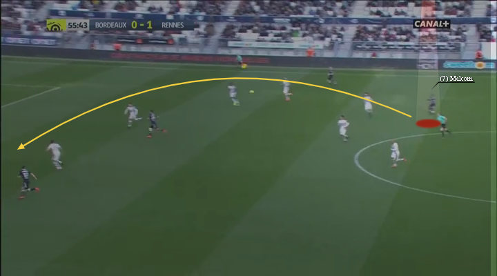 eastbridge sports brokerage, eastbridge skype betting, La Liga Player Analysis Barcelona's Malcom, Image 10 - Malcom sublime diagonal ball