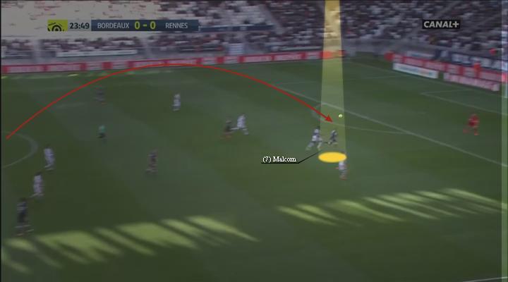 eastbridge sports brokerage, eastbridge skype betting, La Liga Player Analysis Barcelona's Malcom, Image 5 - Malcom clever run from central