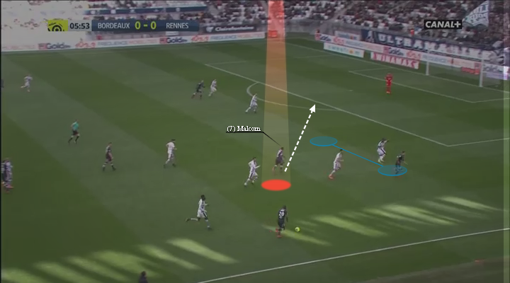 eastbridge sports brokerage, eastbridge skype betting, La Liga Player Analysis Barcelona's Malcom, Image 7 - Malcom uses spaces left vacant by Laborde
