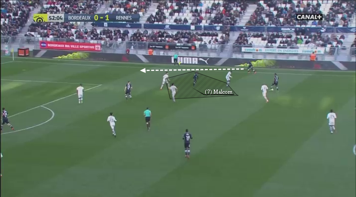 eastbridge sports brokerage, eastbridge skype betting, La Liga Player Analysis Barcelona's Malcom, Image 9 - Malcom infield drifts makes room fb run