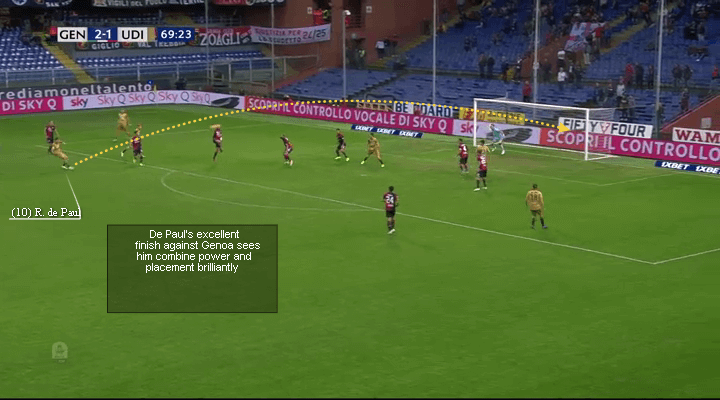 Udinese Calcio's Rodrigo De Paul, De Paul brilliant finish