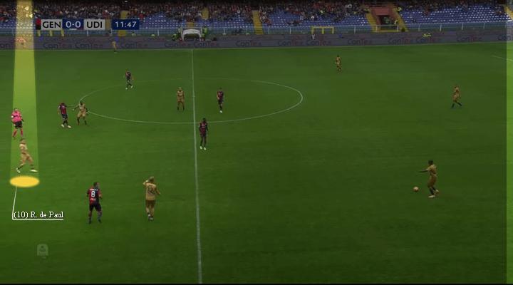 Udinese Calcio's Rodrigo De Paul, De Paul brilliant space finding