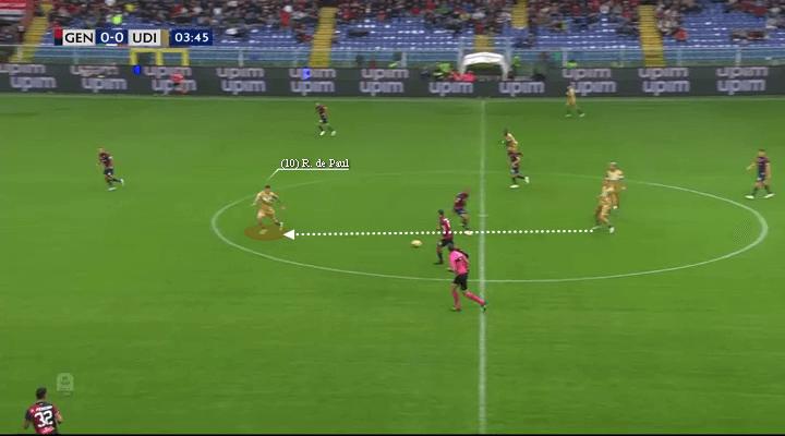 Udinese Calcio's Rodrigo De Paul, De Paul superb movement