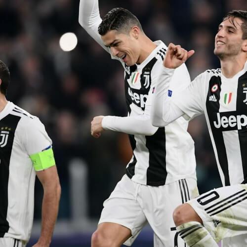 Giorgio Paratici with Ronaldo