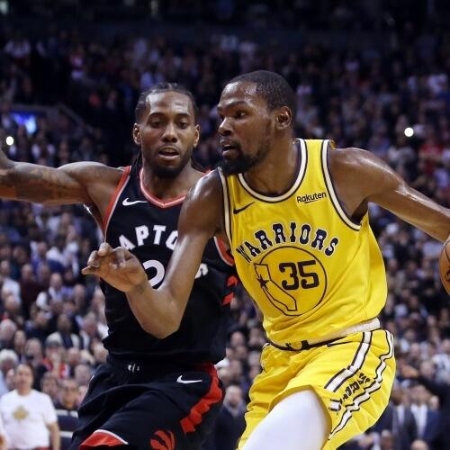 Warriors v Raptors