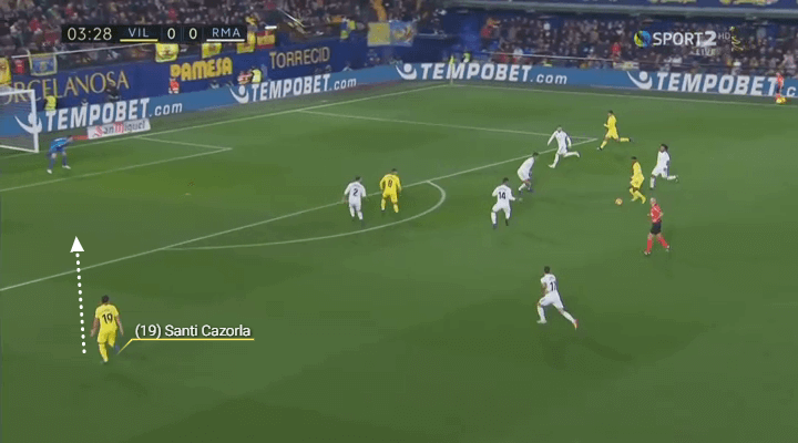 Cazorla run prior to goal