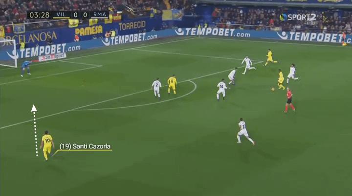 Cazorla run prior to goal