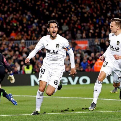 Dani Parejo celebrates goal