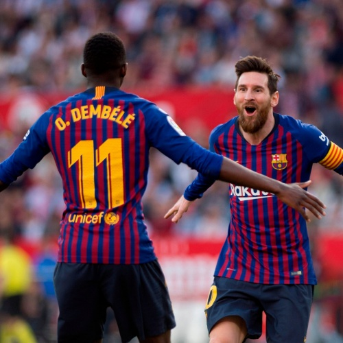 Dembele and Messi