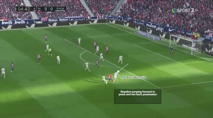 Player Analysis Sergio Reguilon press