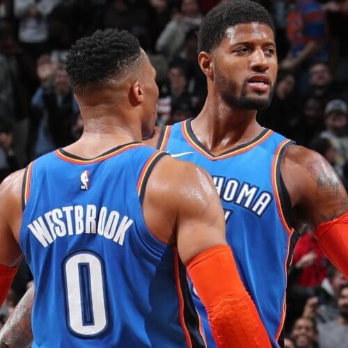 Paul George and Russell Westbrook