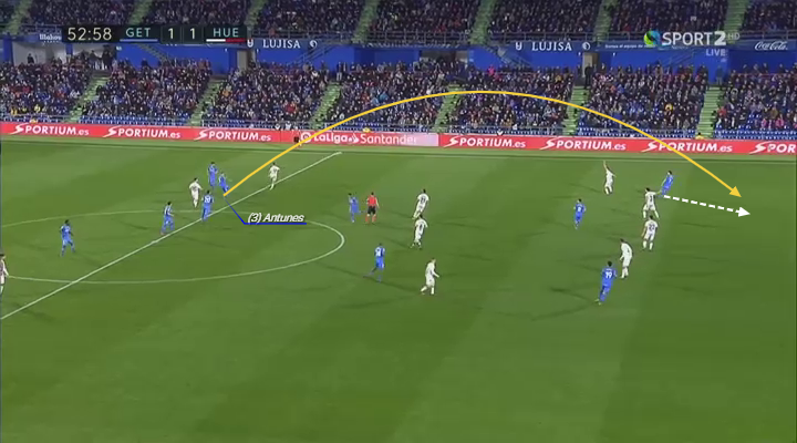 Vitorino Antunes Player Analysis excellent blindside run in behind