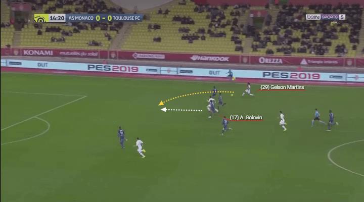 Gelson Martins' perfect through ball assist for Golovin