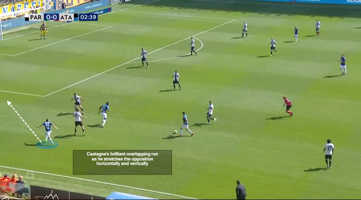Player Analysis Timothy Castagne Superb overlapping run