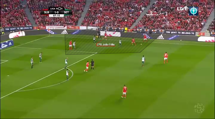 Joao Felix helping to create a 4v3 out wide